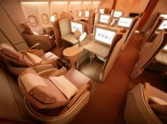 Business class flight pictures