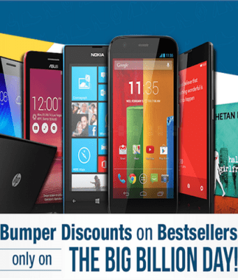 big billion day sale on 6th october flipkart