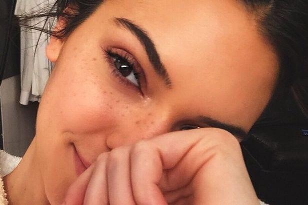 Kylie Jenner Shows Off Her Freckles
