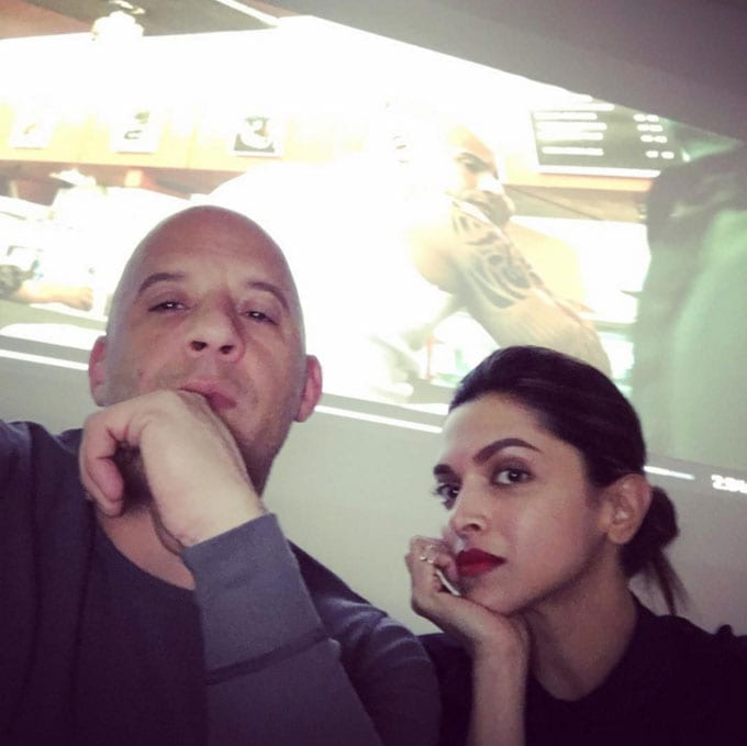 Deepika Live With Vin Diesel On Facebook And Taught Him Hindi