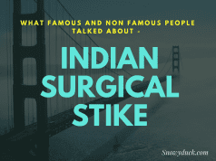 What famous and non famous people talked about India surgical strikes